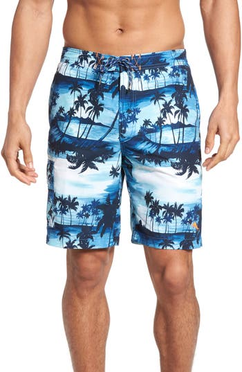 Tommy Bahama Baja Sunset Island Board Shorts, Blue