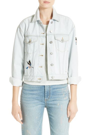 Women's La Vie Rebecca Taylor Embroidered Denim Jacket