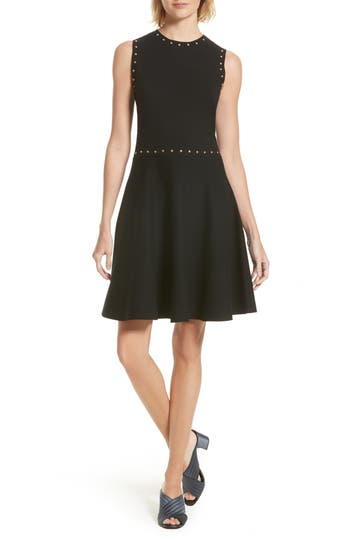 Kate Spade New York Studded Fit & Flare Dress