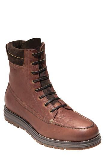 Cole Haan Lockridge Waterproof Moc Toe Boot, Brown