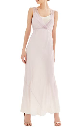 Women's Topshop Bride Column Gown, Size 2 US (fits like 0) - Purple