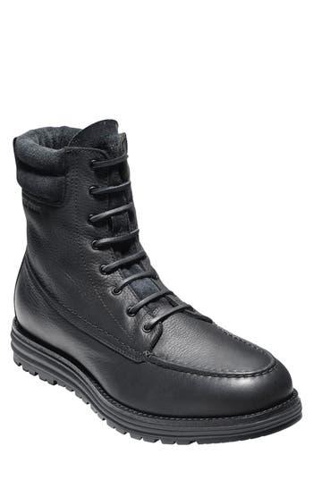 Cole Haan Lockridge Waterproof Moc Toe Boot, Black