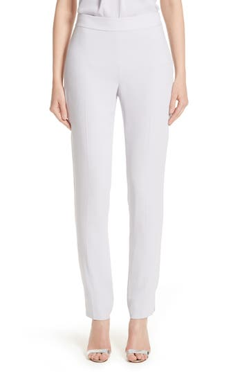 Women's St. John Collection Emma Satin Back Crepe Pants