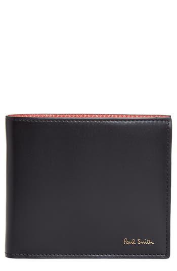 Paul Smith Leopard Print Billfold Wallet - Black