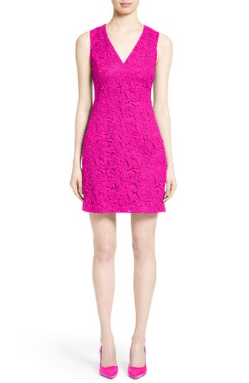 Adam Lippes Lace Minidress, Pink