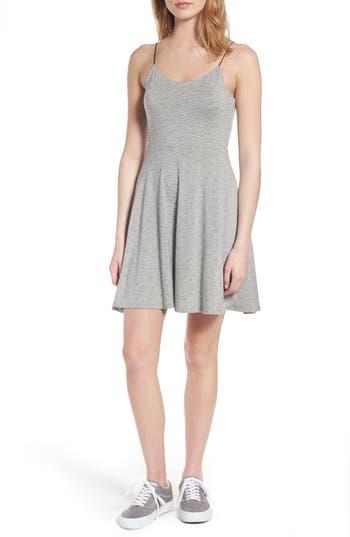Lush Fit & Flare Dress, Grey