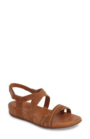 Fitflop Lumy Studded Wedge Sandal, Brown