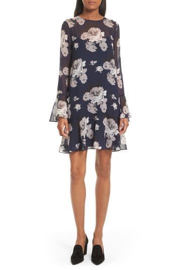 Theory Marah Floral Chiffon Dress