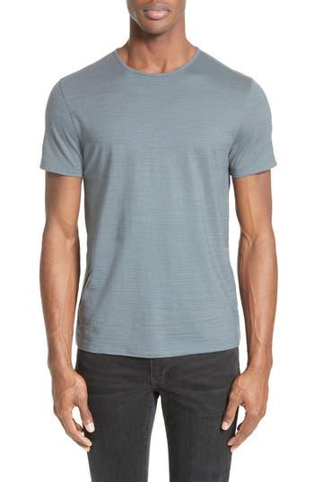 John Varvatos Collection Striated Crewneck T-Shirt, Metallic