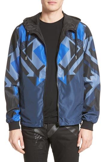 Versace Jeans Reversible Print Windbreaker, Blue