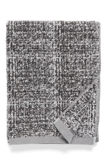 Nordstrom At Home Tweed Jacquard Bath Towel, Size One Size - Grey
