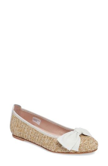 Women's Patricia Green Capri Bow Flat, Size 10 M - White