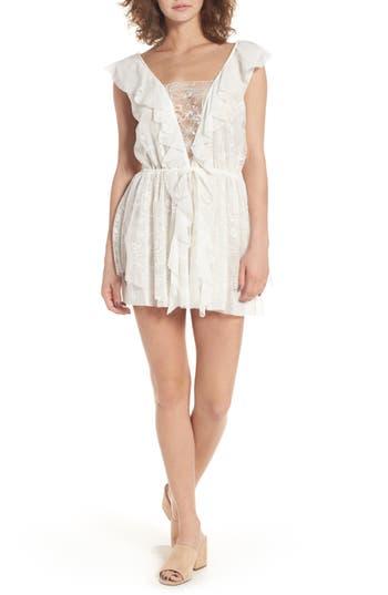 For Love & Lemons Stardust Lace Minidress, White