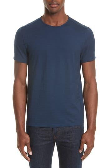 John Varvatos Collection Striated Crewneck T-Shirt, Blue