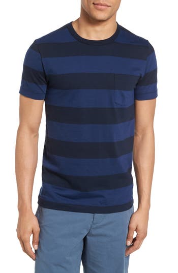 Men's French Connection Varsity View Stripe Slim T-Shirt