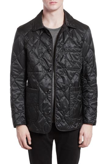 Men's Burberry Rushton Trim Fit Quilted Jacket