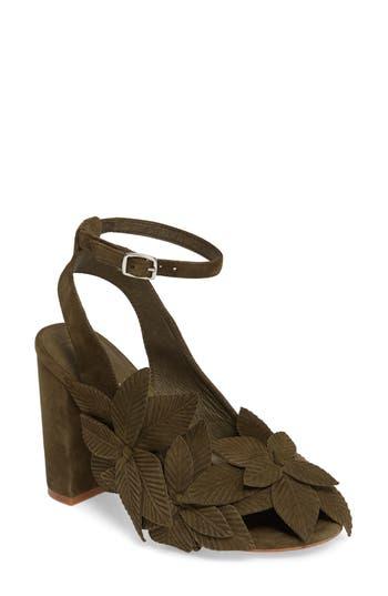 Women's Jeffrey Campbell Lonicera Flower Sandal, Size 5 M - Brown