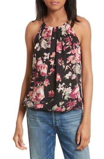 Women's Joie Anatase C Floral Print Sleeveless Silk Top