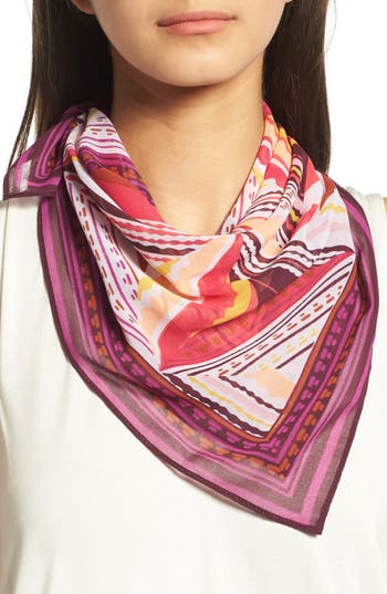 Women's Halogen Triangle Print Square Scarf