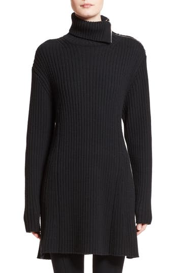 Proenza Schouler Wool & Cashmere Blend Turtleneck Dress, Black