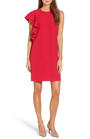 Maggy London Dream Crepe Dress, Red