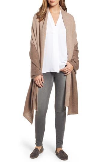 Women's Halogen Colorblock Cashmere Wrap, Size One Size - Brown