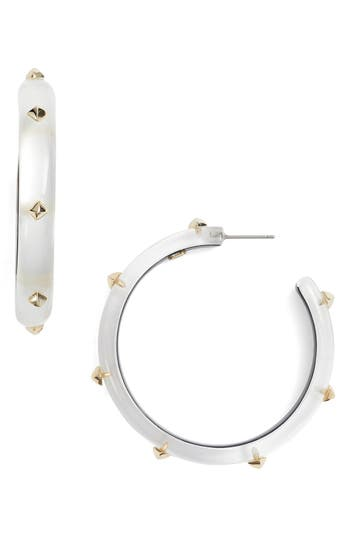 Women's Alexis Bittar Studded Lucite Hoop Earrings