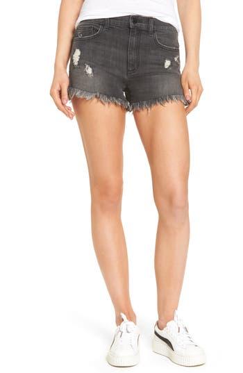 Women's Sp Black Frayed Hem Denim Shorts
