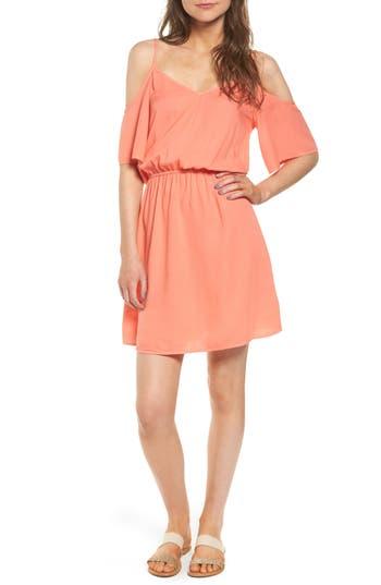 Splendid Cold Shoulder Dress, Coral