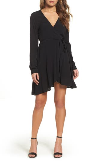 Women's Knot Sisters Thorn Wrap Dress, Size X-Small - Black