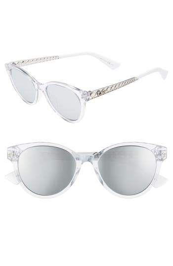 Women's Dior Diorama Mini 52Mm Mirrored Lens Special Fit Sunglasses -