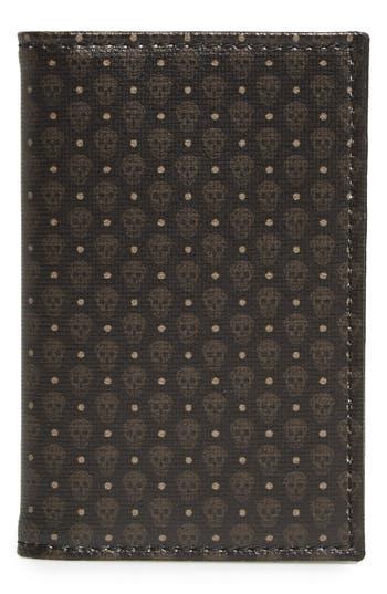 Alexander Mcqueen Coated Canvas Wallet - Grey