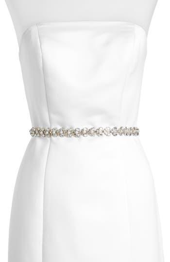 kate spade new york crystal & imitation pearl belt