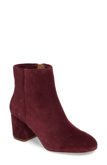 Splendid Daniella Block Heel Bootie, Burgundy