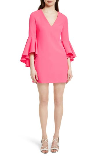 Milly Nicole Bell Sleeve Dress, Pink