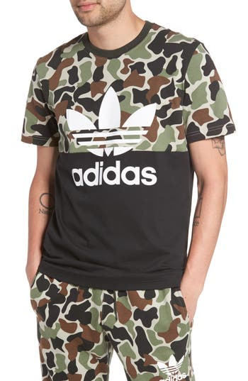 Adidas Originals Camo Colorblock Graphic T-Shirt
