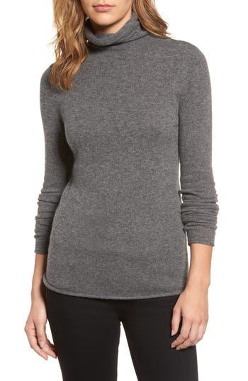 Petite Women's Halogen Funnel Neck Cashmere Sweater