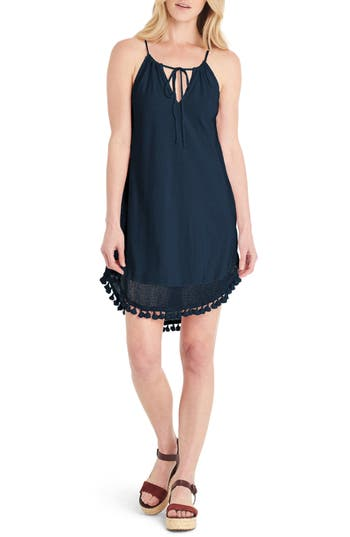 Michael Stars Tassel Trim Tank Dress, Blue