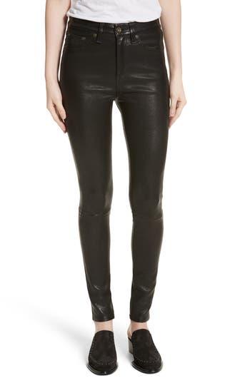 Women's Rag & Bone/jean Lambskin Leather Pants
