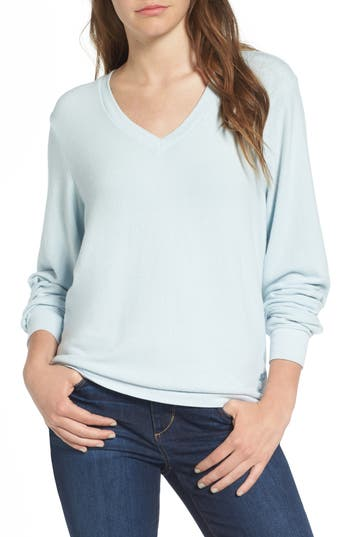 Women's Wildfox V-Neck Pullover, Size X-Small - Blue
