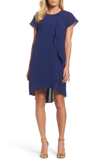 Adrianna Papell Crepe Shift Dress, Blue
