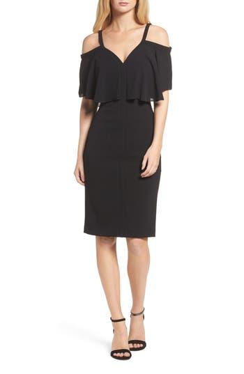 Maggy London Catalina Crepe Popover Dress, Black