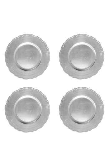American Atelier Regency Set Of 4 Charger Plates, Size One Size - Metallic