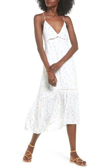 Lush Print Midi Dress, Ivory