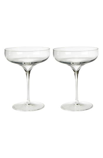 Luigi Bormiolo Vinea Moscato/spumante Set Of 2 Coupe Glasses, Size One Size - White