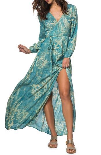 Women's O'Neill Cambria Maxi Wrap Dress, Size Small - Blue