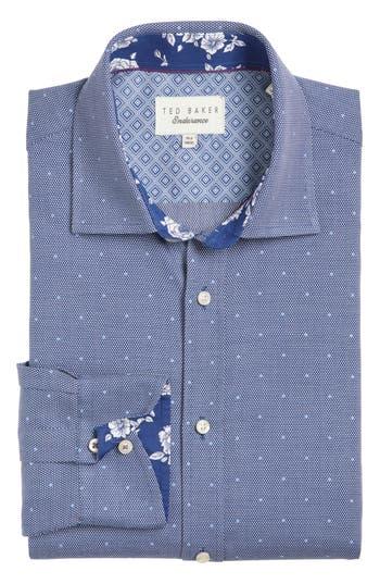 Men's Ted Baker London Trim Fit Dot Dress Shirt