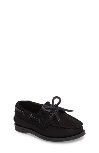 Boys Sperry Kids Authentic Original Boat Shoe Size 4 M  Black
