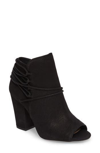 Jessica Simpson Remni Peep Toe Bootie- Brown