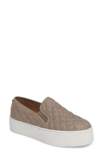 Steve Madden Ecentrcq Quilted Platform Sneaker- Grey